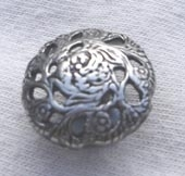 Antique silver finish metal button