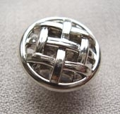 Silver metallic button