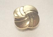Gilt metallic effect button
