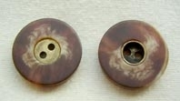 Natural effect button, metal centre