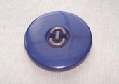 Dyed button, centre metallic effect detail
