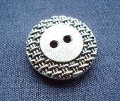 Metal silver finish button