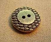 Metal, gilt finish button