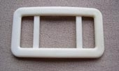 Plastic off white buckle